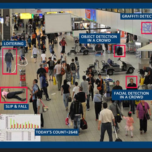 Visual pattern detection in crowded environment