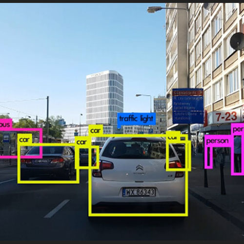 Real time traffic object detection used in self driving cars