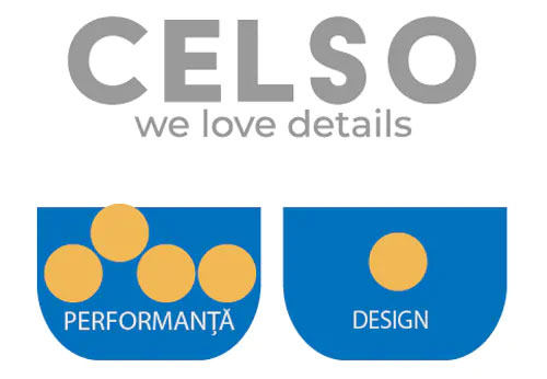 Celso este un website axat pe performanta, nu pe design